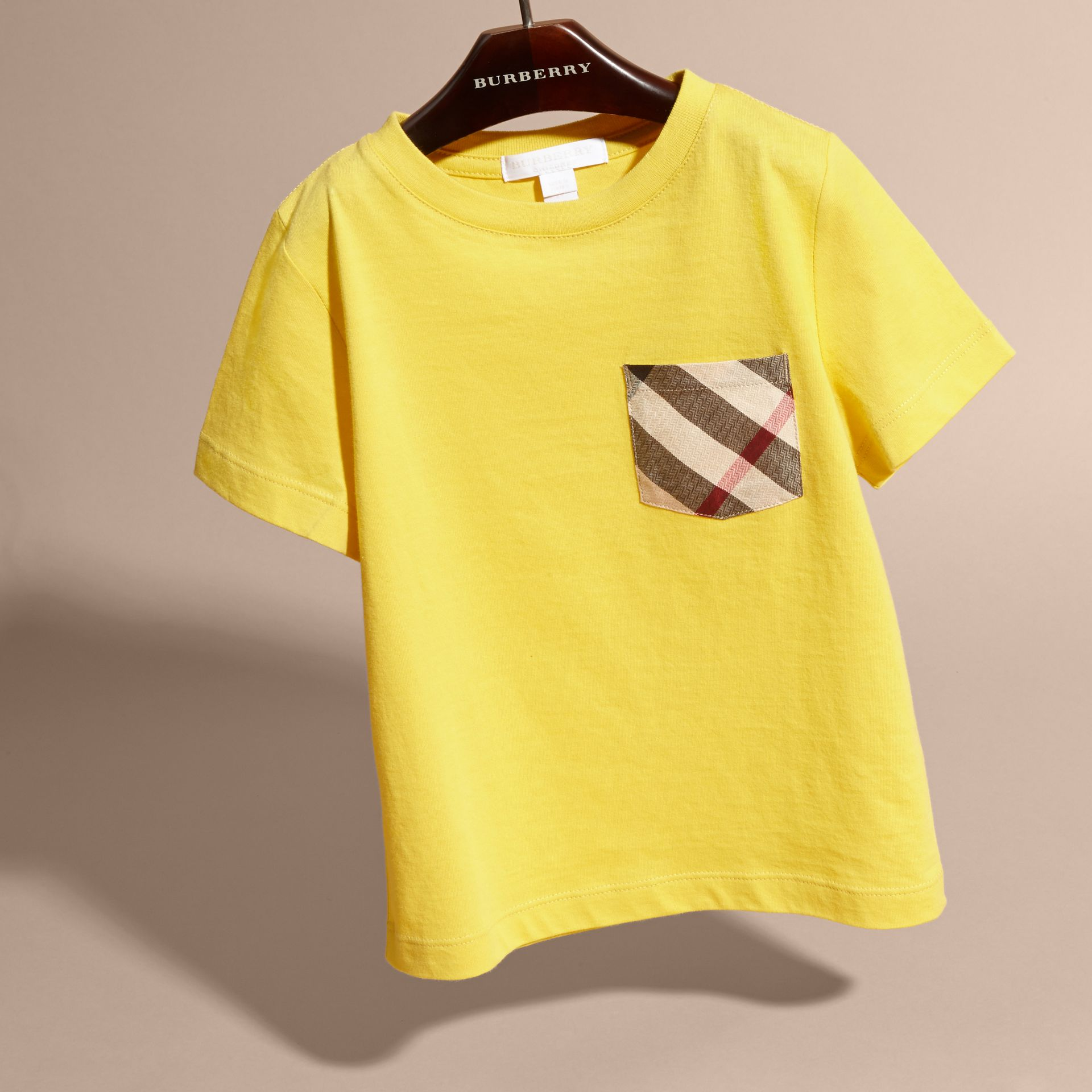 Bright yellow Check Pocket T-Shirt Bright Yellow - gallery image 3