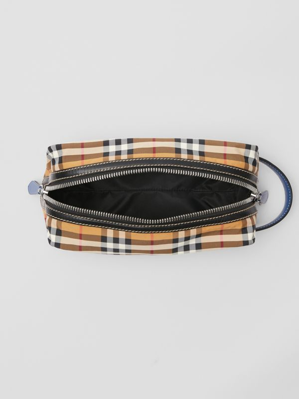 Vintage Check and Leather Pouch in Antique Yellow - Men | Burberry Australia - cell image 3