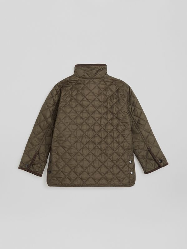 Lightweight Diamond Quilted Jacket in Olive | Burberry - cell image 3