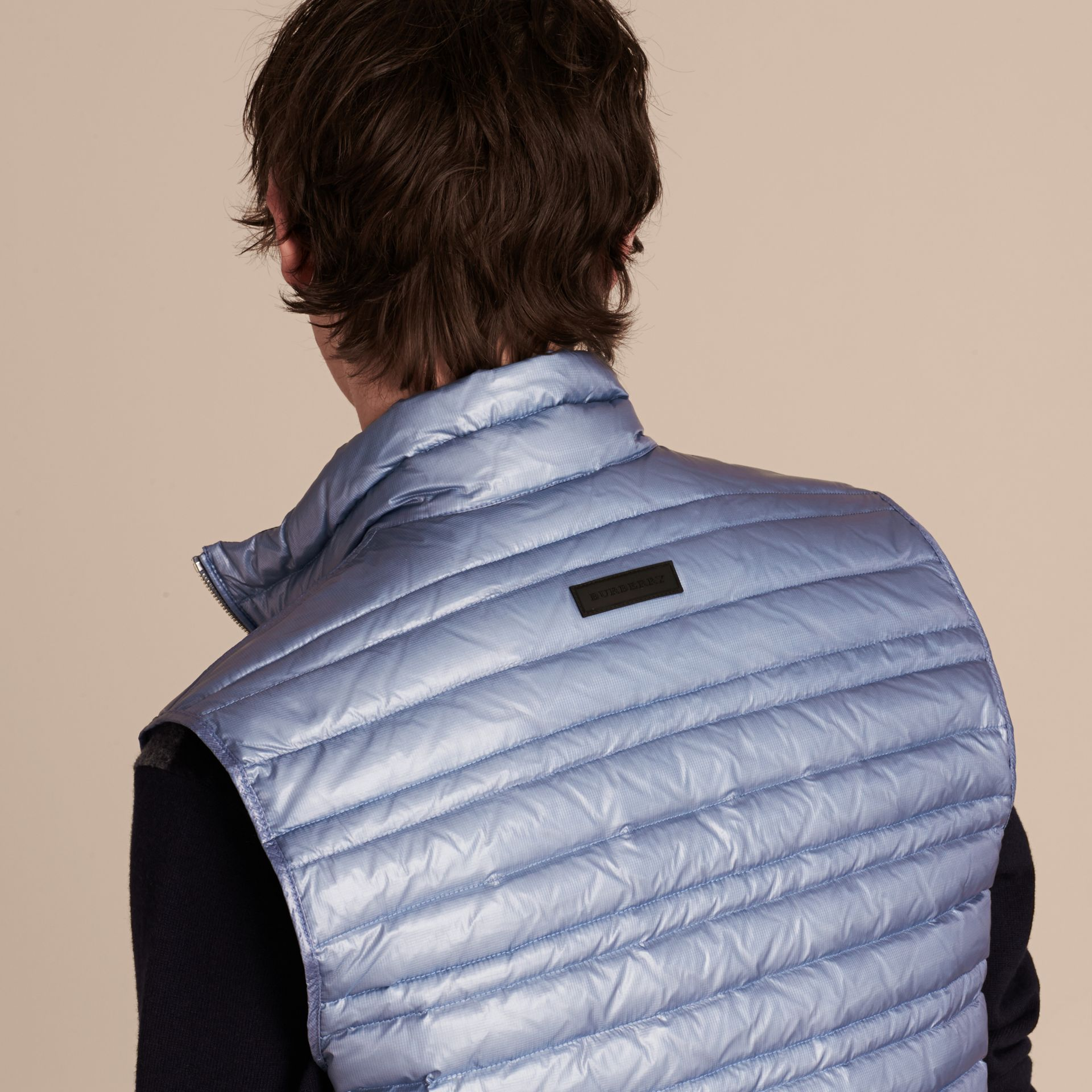 Pale blue Lightweight Down-filled Gilet Pale Blue - gallery image 5