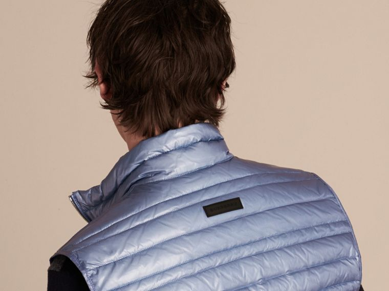 Pale blue Lightweight Down-filled Gilet Pale Blue - cell image 4