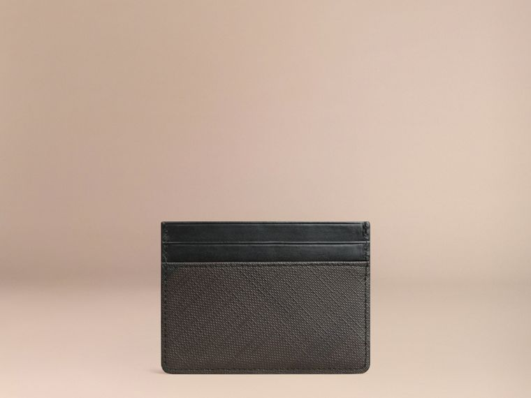 London Check Card Case in Chocolate/black - Men | Burberry - cell image 2