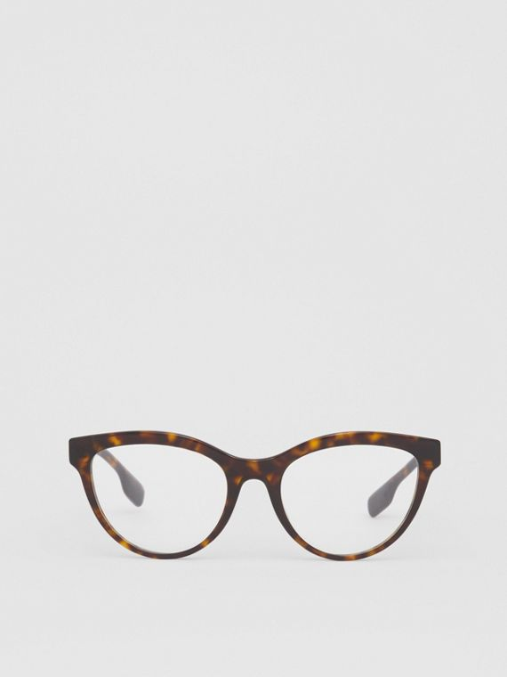 Monogram Motif Cat-eye Optical Frames in Tortoiseshell