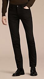 Slim Fit Unwashed Stretch Denim Jeans