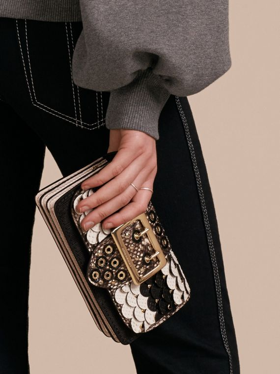 The Small Buckle Bag in Scalloped Snakeskin - cell image 3