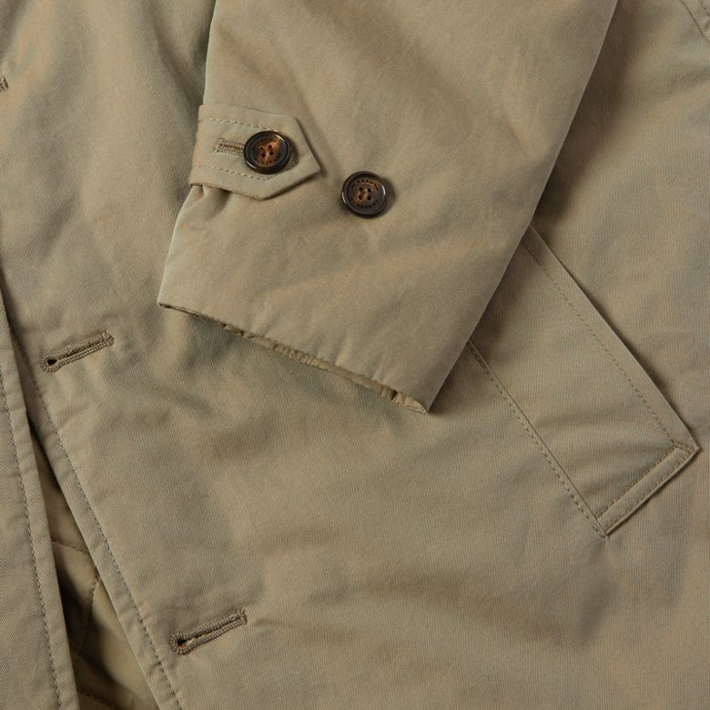 Burberry - Abrigo tres cuartos reversible en algodón de gabardina tropical - 2