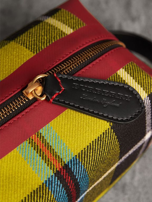 Tartan Cotton Pouch in Ochre Yellow | Burberry - cell image 1