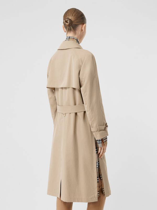 Side-slit Tropical Gabardine Trench Coat in Light Taupe - Women | Burberry United Kingdom - cell image 2