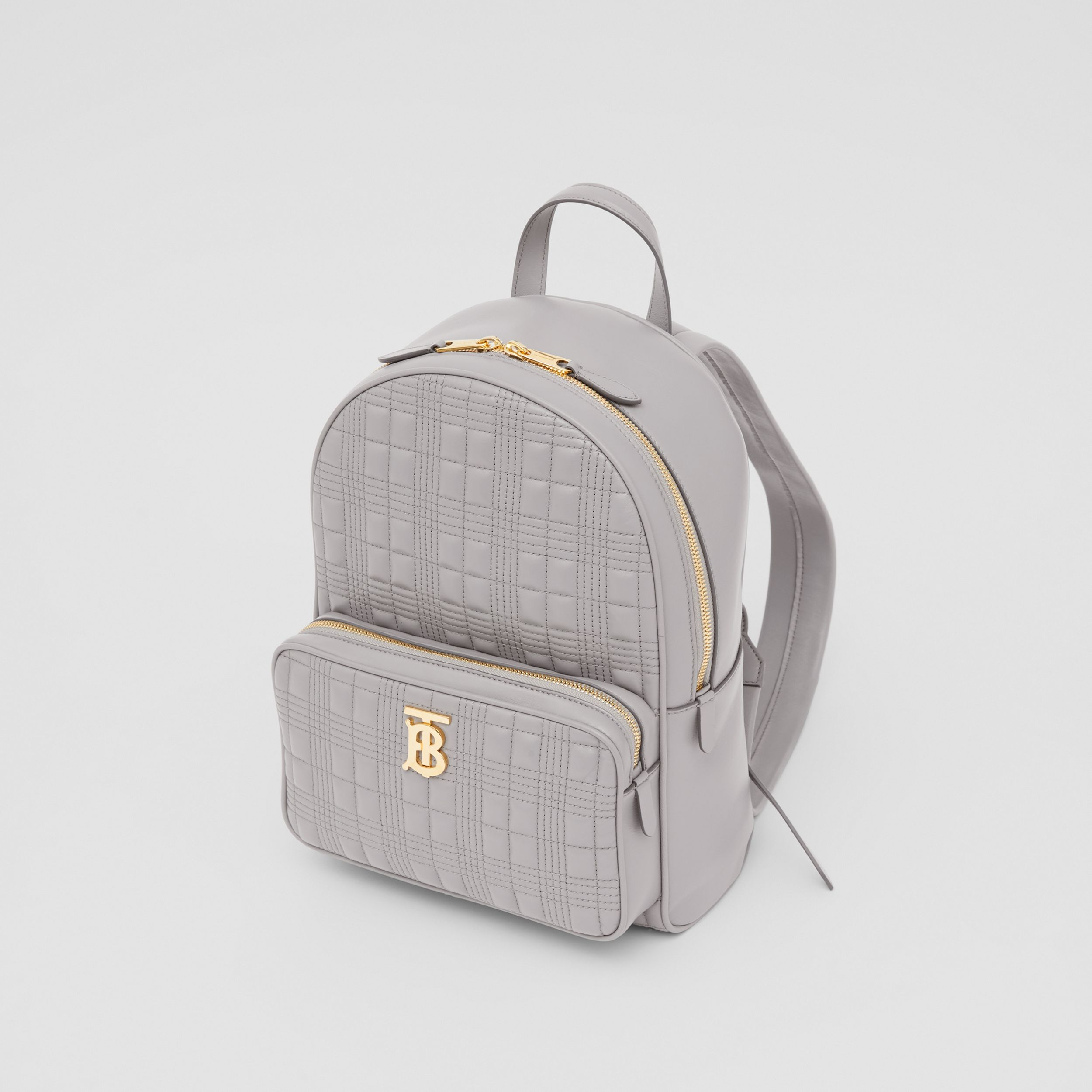 Quilted Lambskin Backpack in Cloud Grey - Women | Burberry - 4