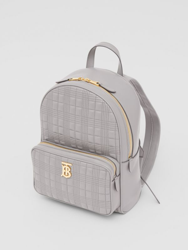 Quilted Lambskin Backpack in Cloud Grey - Women | Burberry United States - cell image 3