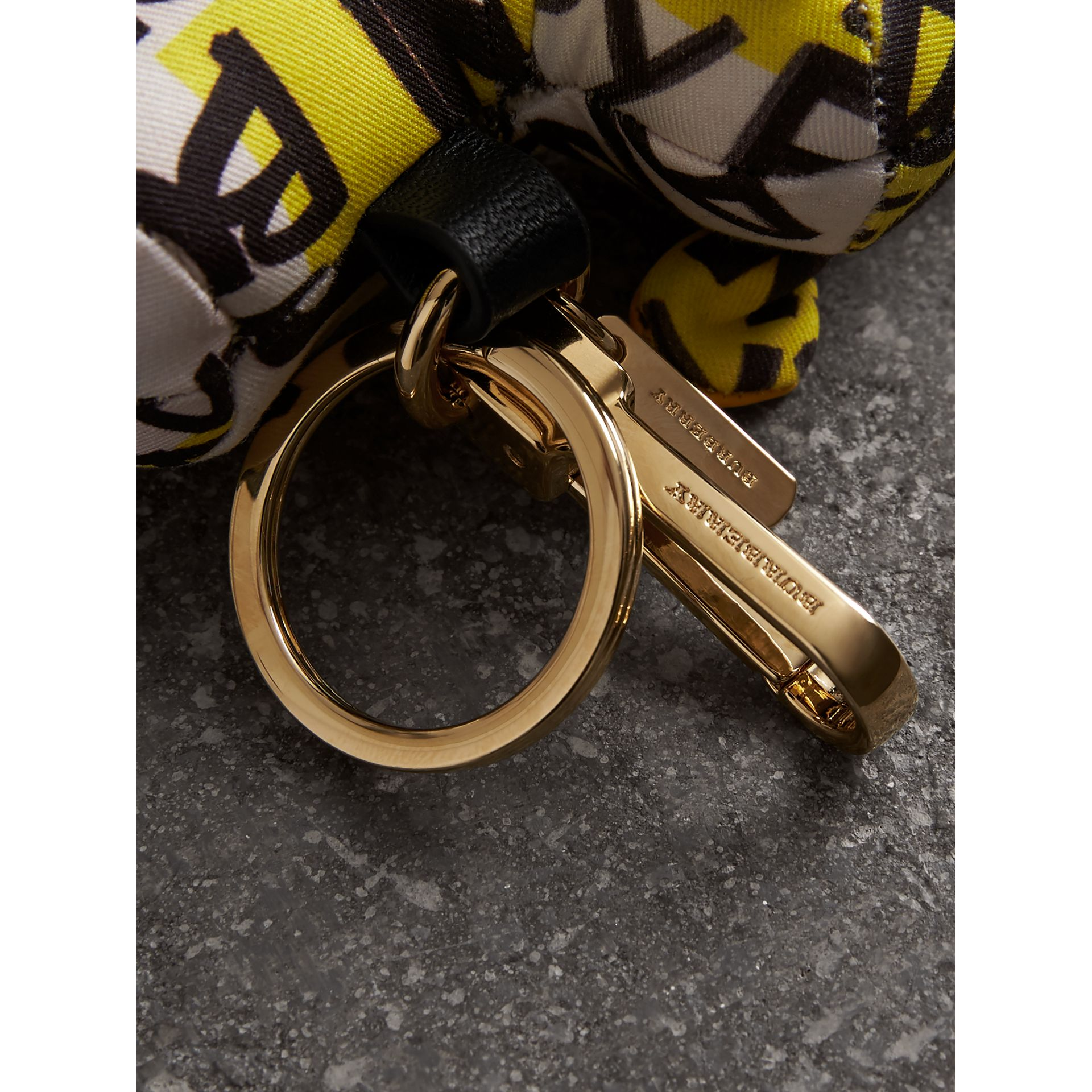 Wendy The Sheep Graffiti Print Cotton Charm in Yellow | Burberry - gallery image 1