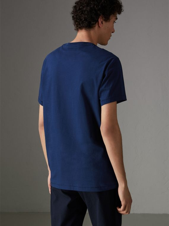 Cotton Jersey T-shirt in Bright Navy - Men | Burberry - cell image 2