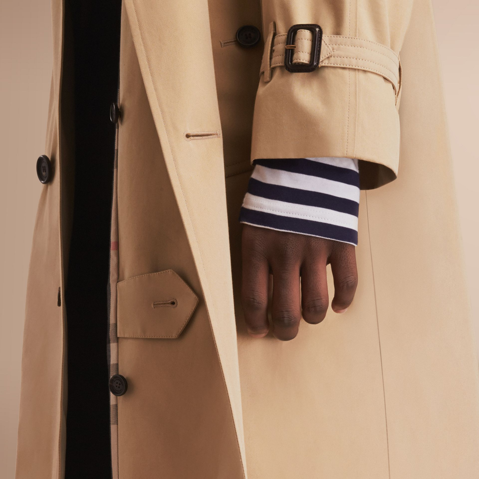 The Westminster – Long Heritage Trench Coat in Honey - gallery image 5