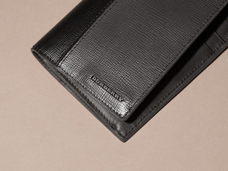 Charcoal/black Colour Block London Leather Continental Wallet Charcoal/black - cell image 1