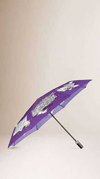 Milan Landmarks Folding Umbrella