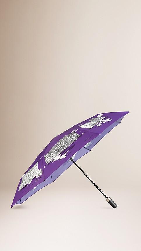 Amethyst Milan Landmarks Folding Umbrella - Image 1
