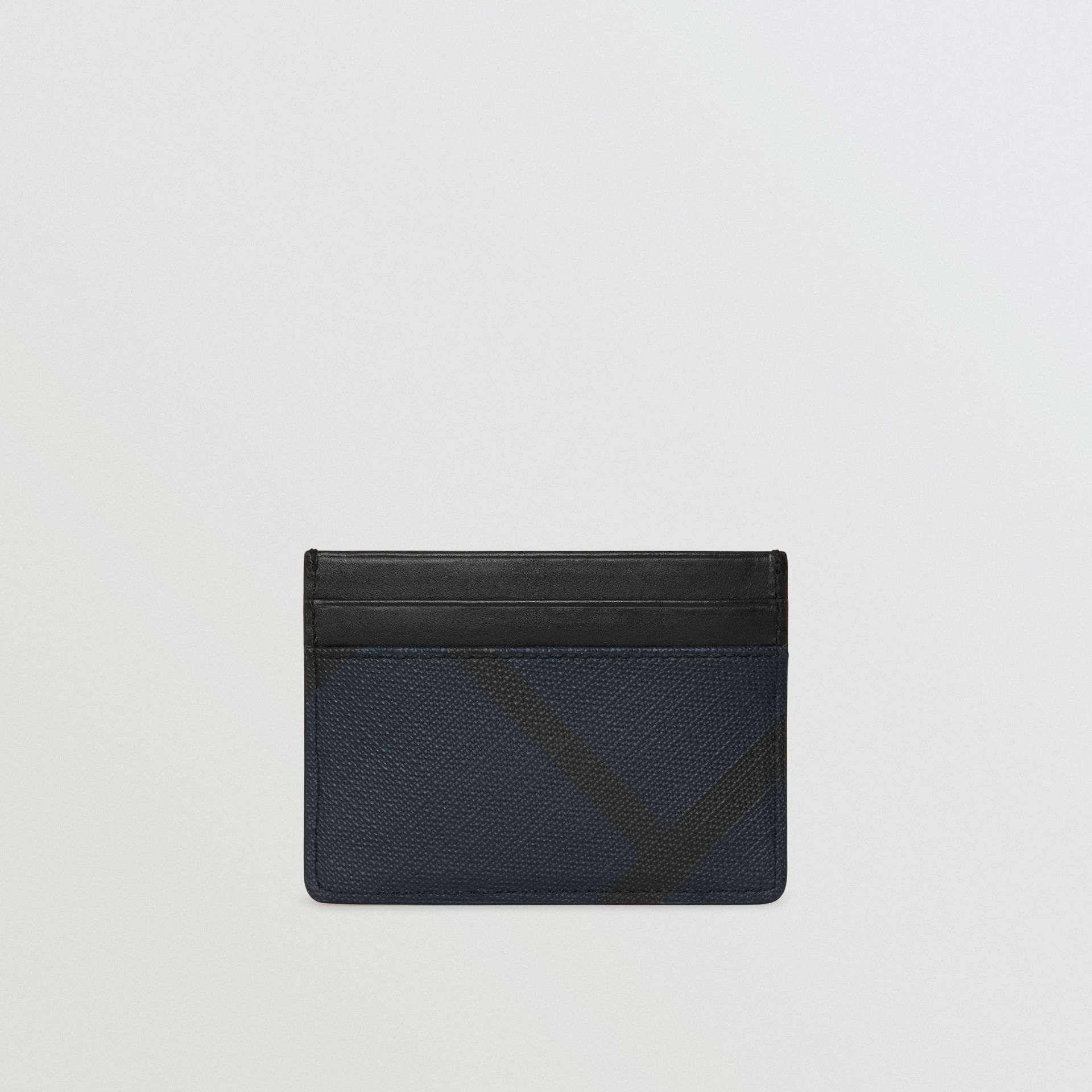 London Check Card Case in Navy/black | Burberry - gallery image 5