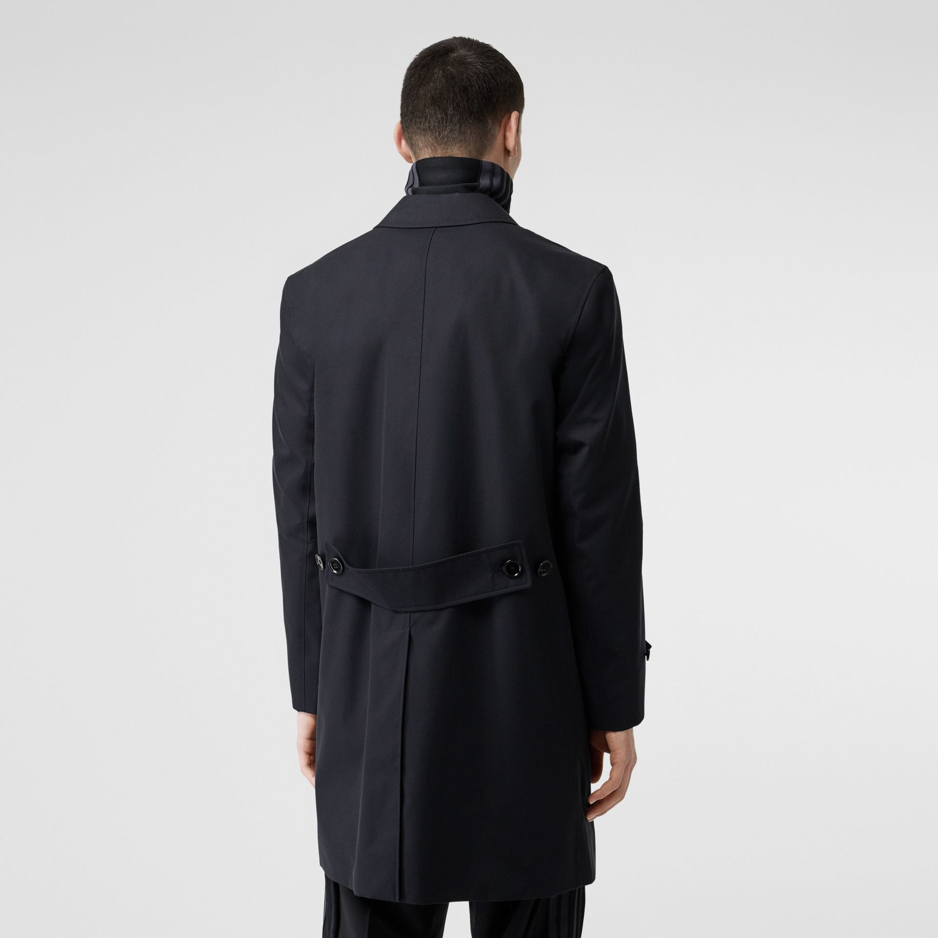Cotton Gabardine Car Coat in Midnight Navy - Men | Burberry - gallery image 2