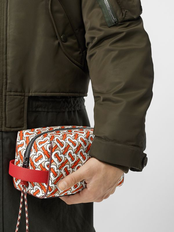 Monogram Print Nylon Pouch in Vermilion - Men | Burberry - cell image 2