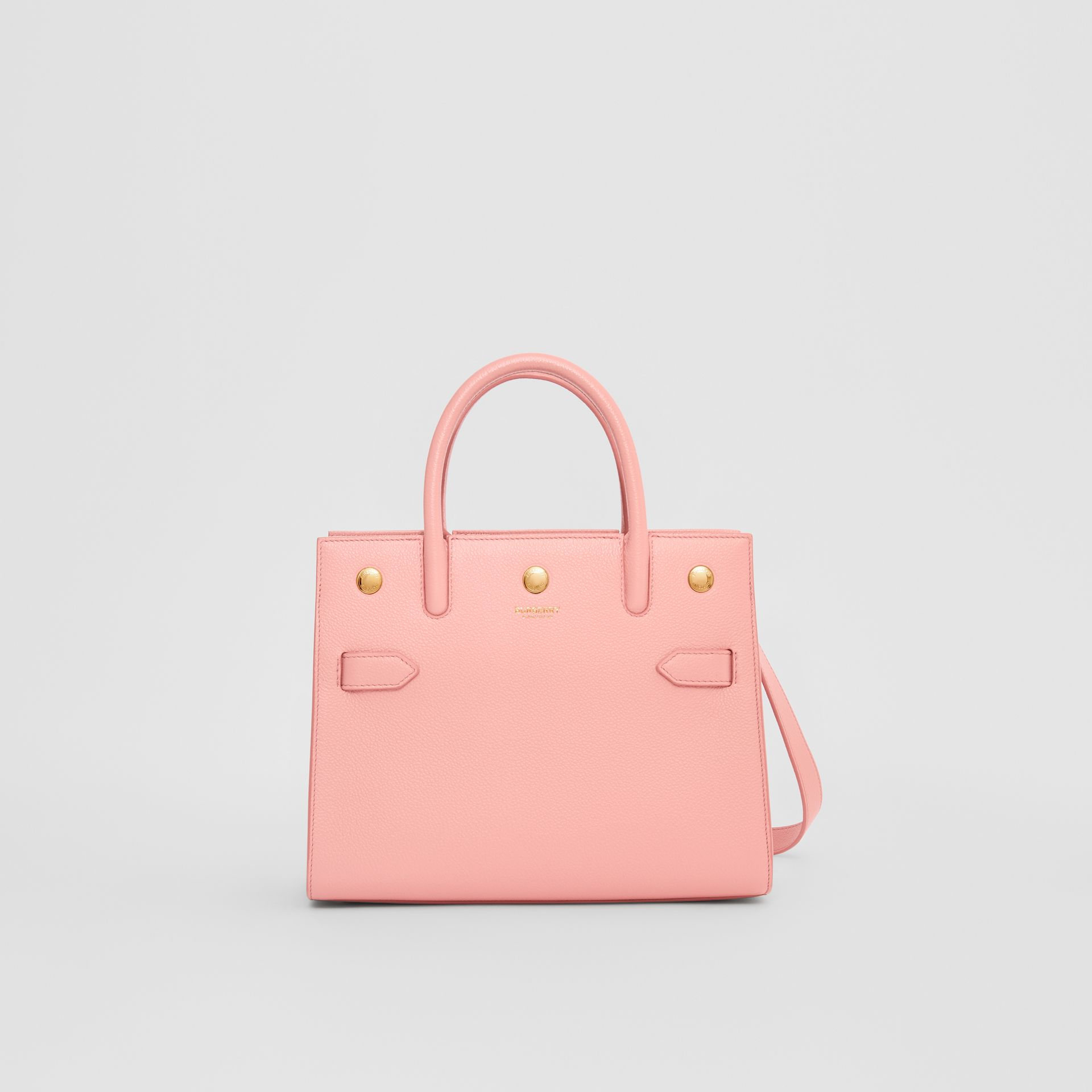 Mini Leather Two-handle Title Bag in Blush Pink - Women | Burberry United Kingdom - gallery image 0
