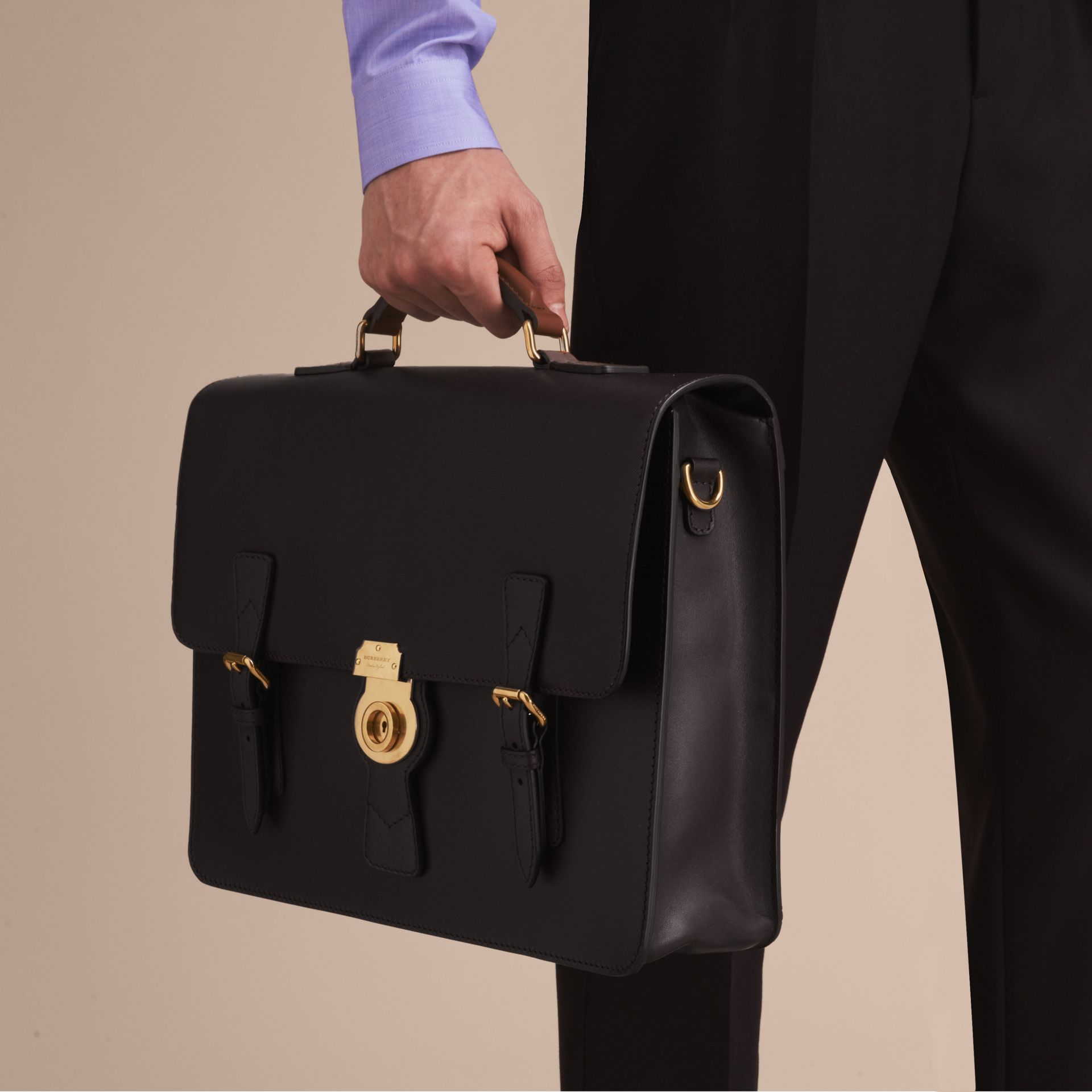 The Medium DK88 Satchel Black - gallery image 3