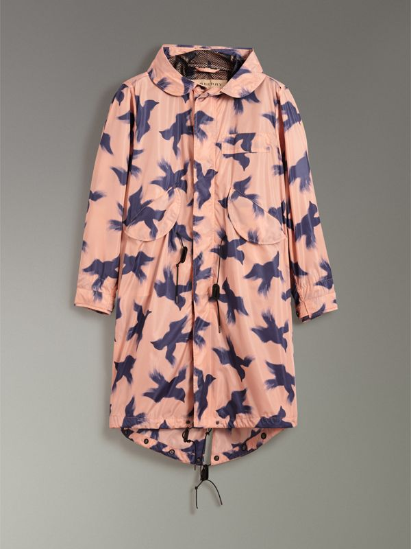 Bird Print Lightweight Parka in Apricot Pink - Men | Burberry - cell image 3