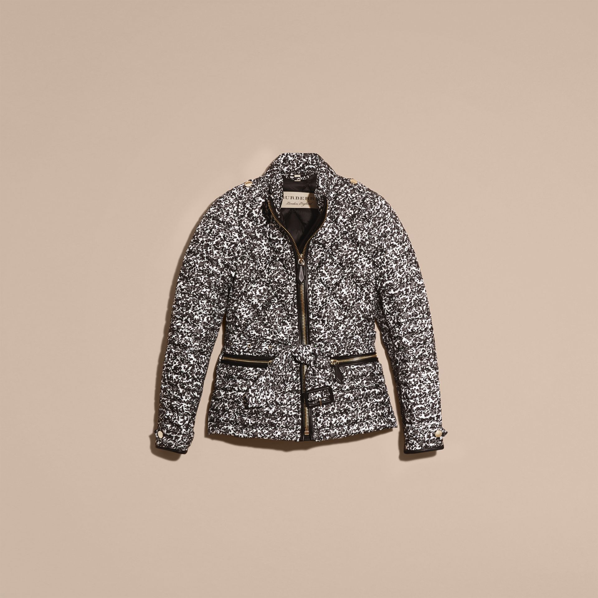 Mid grey Printed Down-filled Puffer - gallery image 4