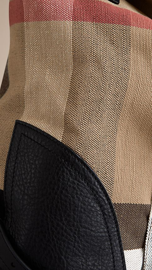 Camel Canvas Check Backpack - Image 6