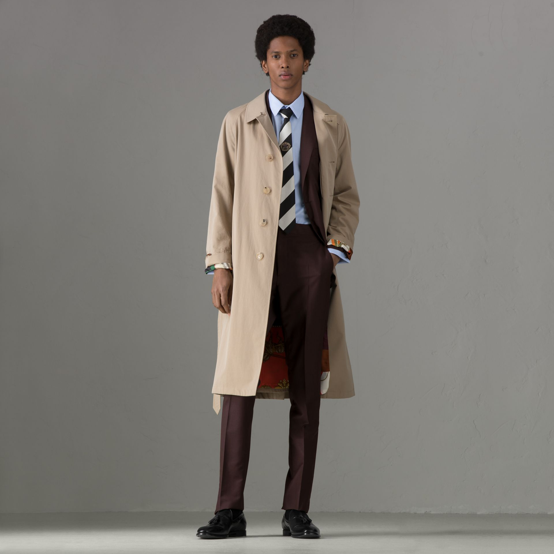 Soho Fit Puppytooth Wool Mohair Suit in Burgundy - Men | Burberry - gallery image 0