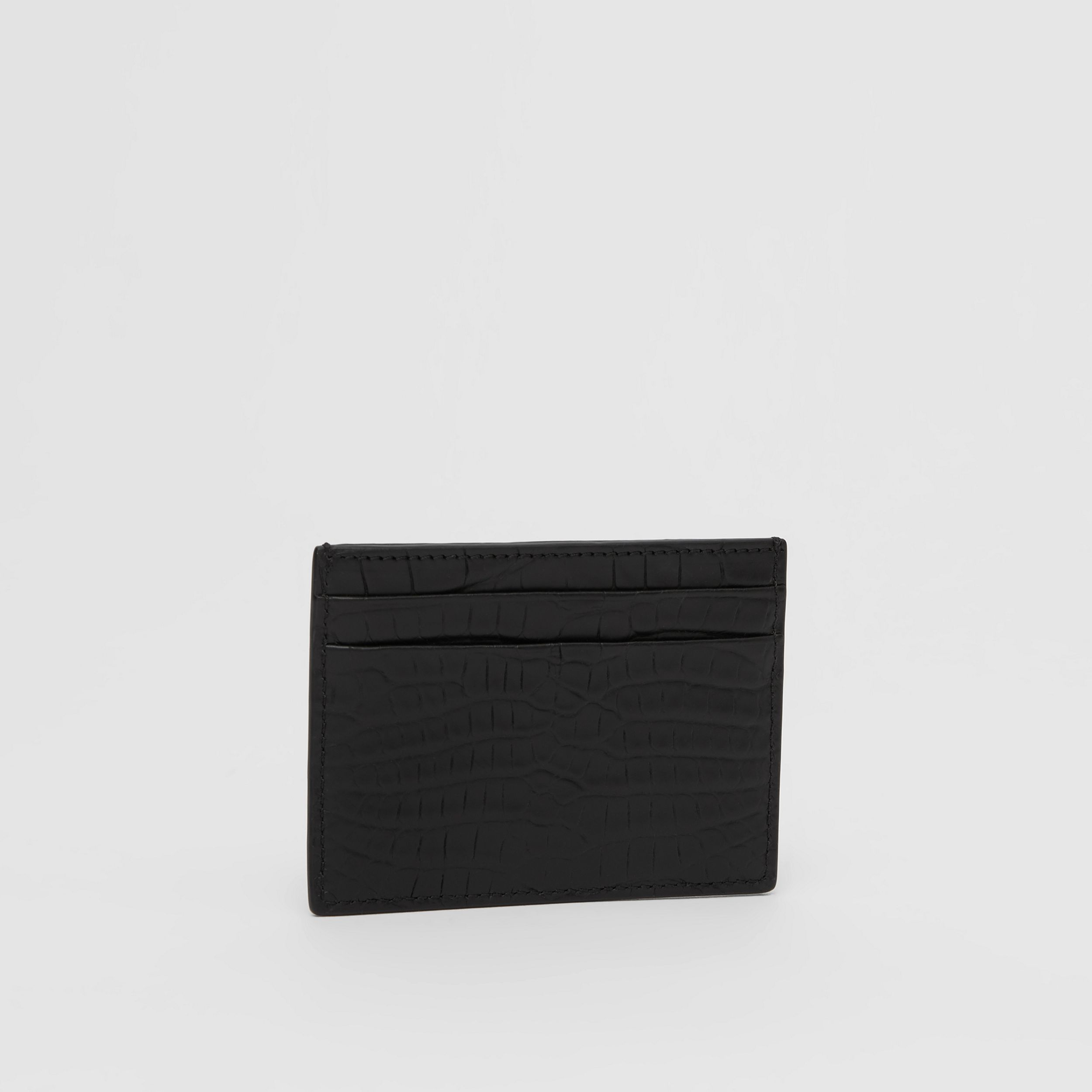 Alligator Card Case in Black - Men | Burberry - 4