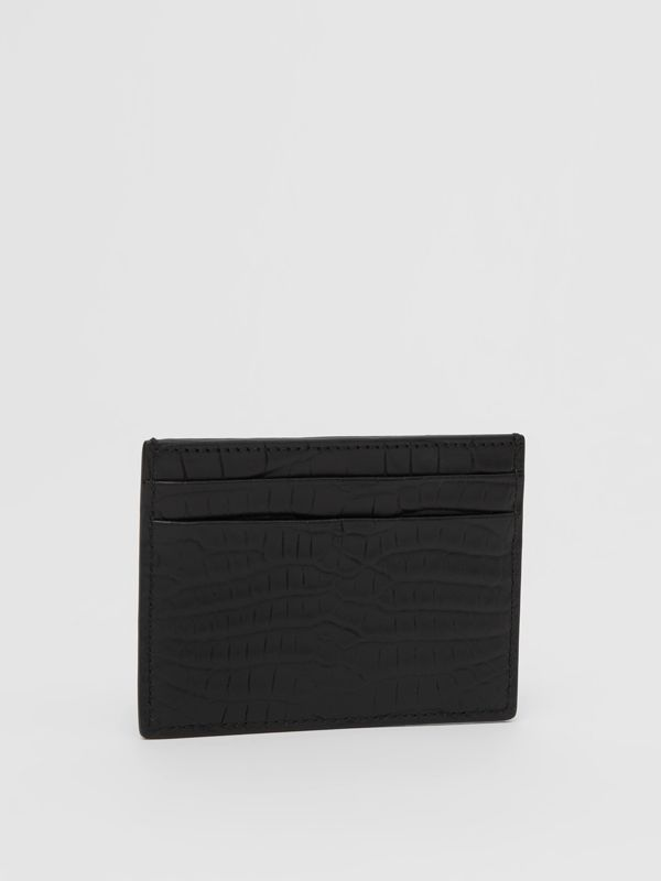 Porte-cartes en alligator (Noir) - Homme | Burberry Canada - cell image 3