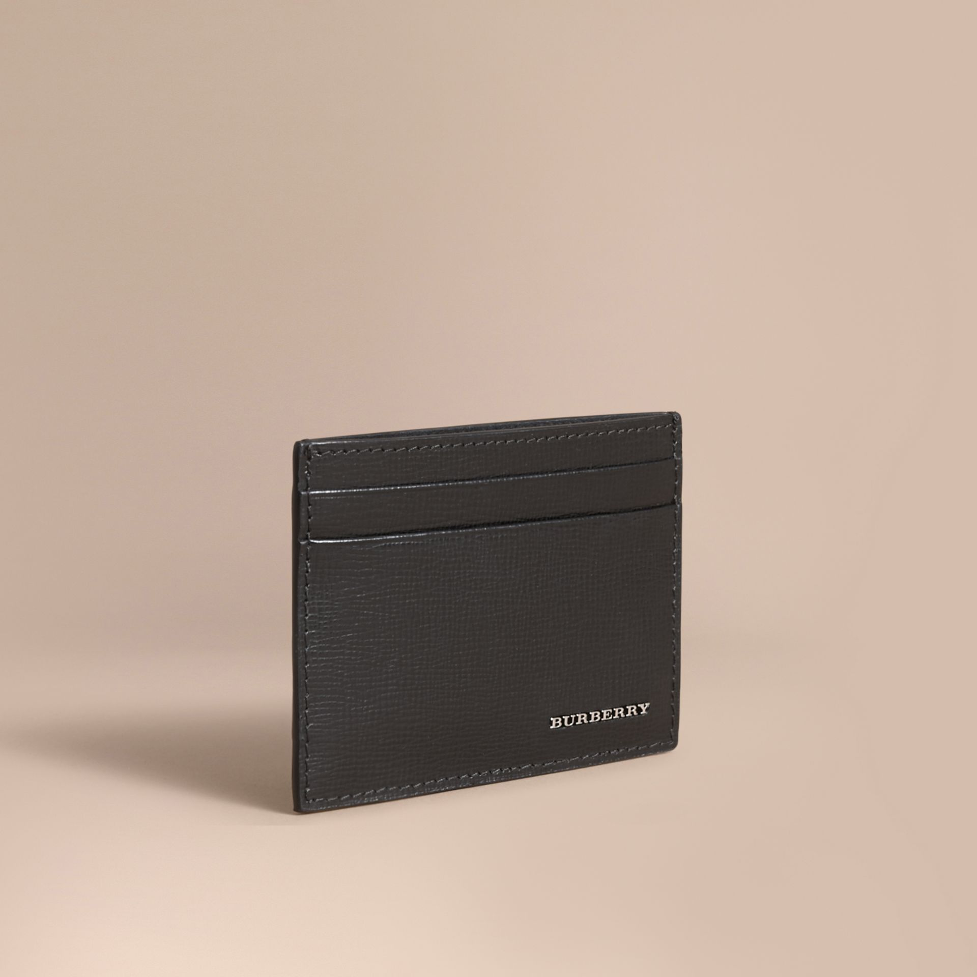 Beasts Motif Leather Card Case - Men | Burberry - gallery image 1