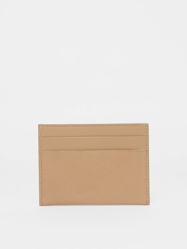 Monogram Motif Leather Card Case in Archive Beige - Women | Burberry United Kingdom - cell image 3