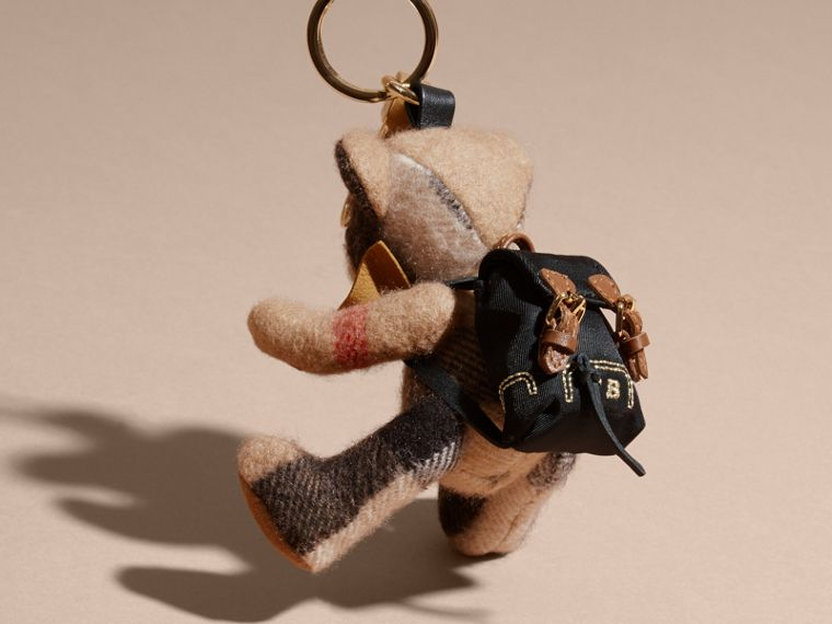 Thomas Bear Charm with Rucksack in Camel | Burberry - cell image 1