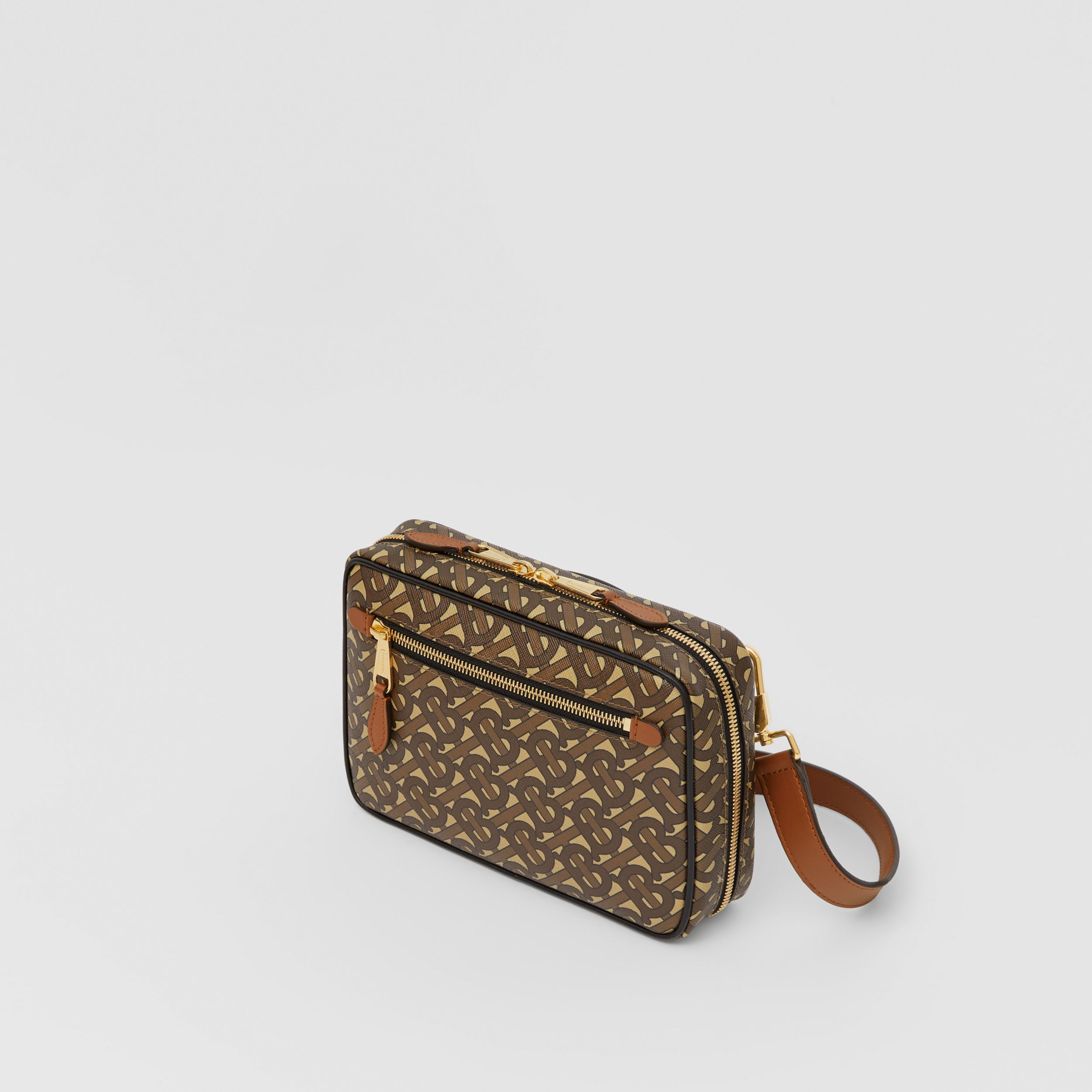 Monogram Print E-canvas Crossbody Bag in Bridle Brown - Men | Burberry United States - 4