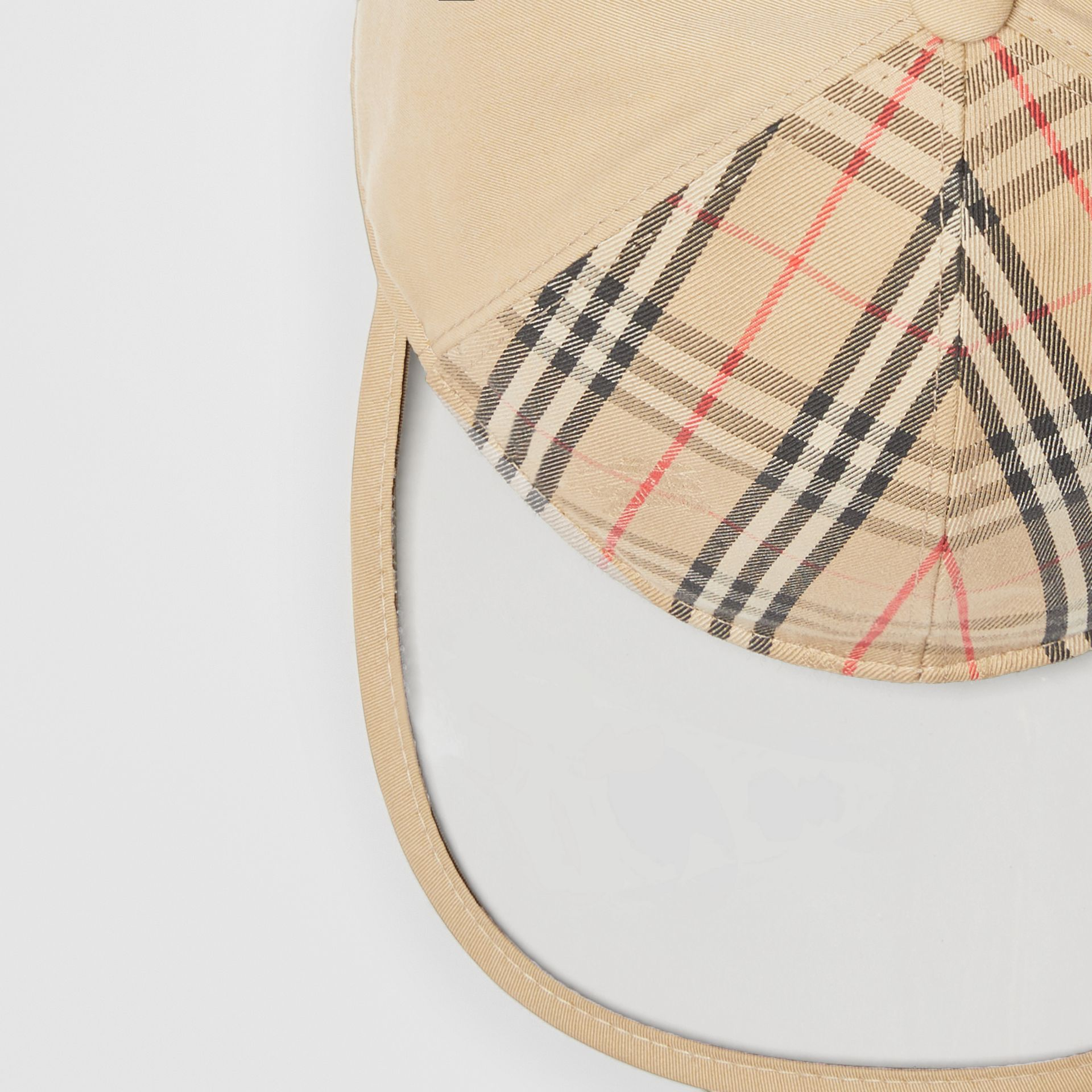 1983 Check Baseball Cap in Dark Sand | Burberry Australia - gallery image 1