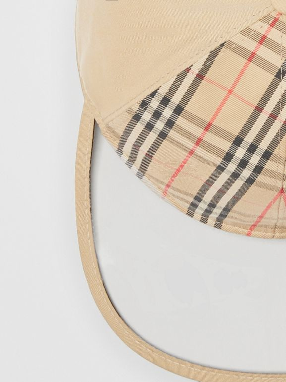 1983 Check Baseball Cap in Dark Sand | Burberry Australia - cell image 1