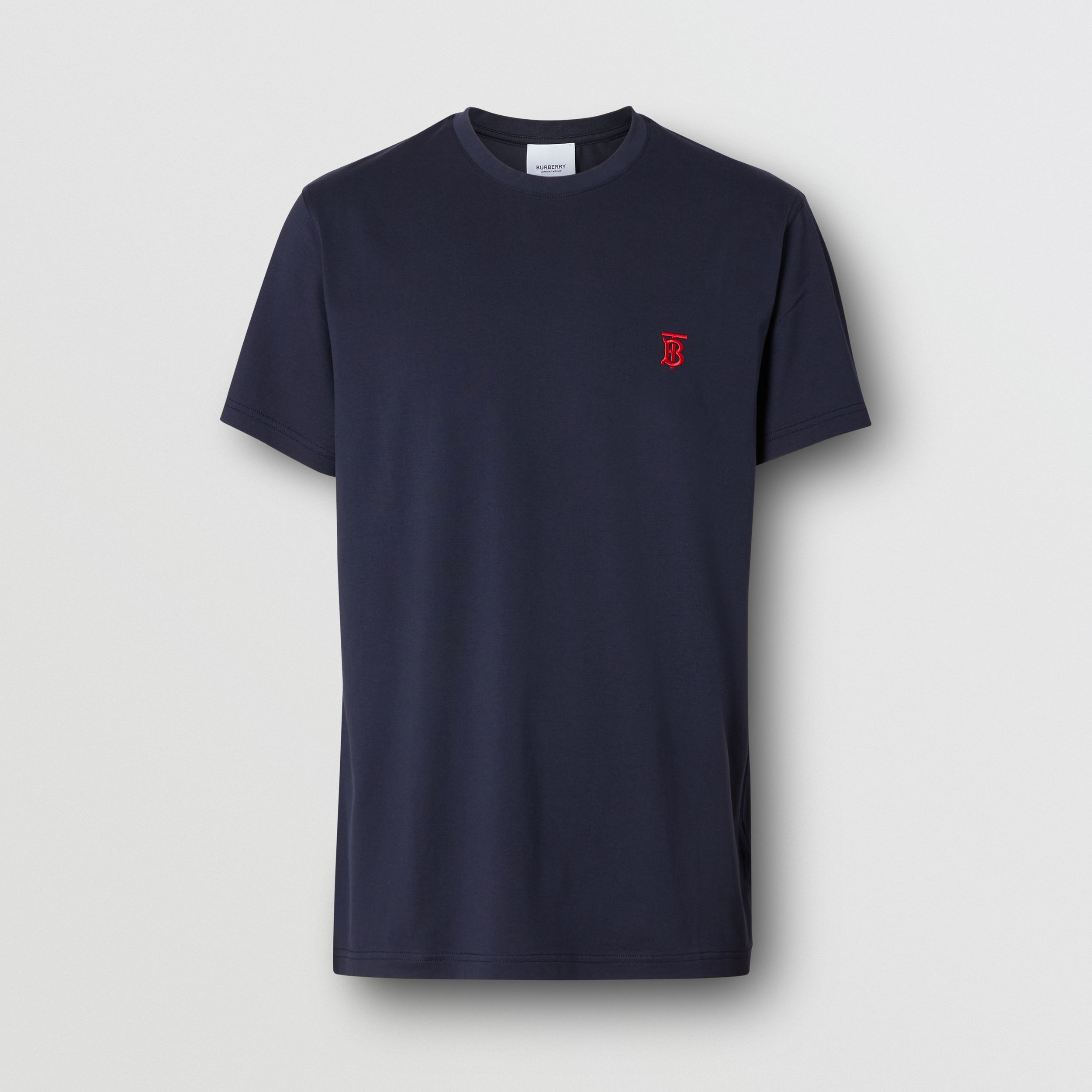 Monogram Motif Cotton T-shirt in Navy - Men | Burberry - 4
