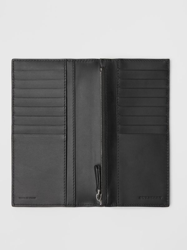 London Leather Continental Wallet in Black - Men | Burberry United States - cell image 3