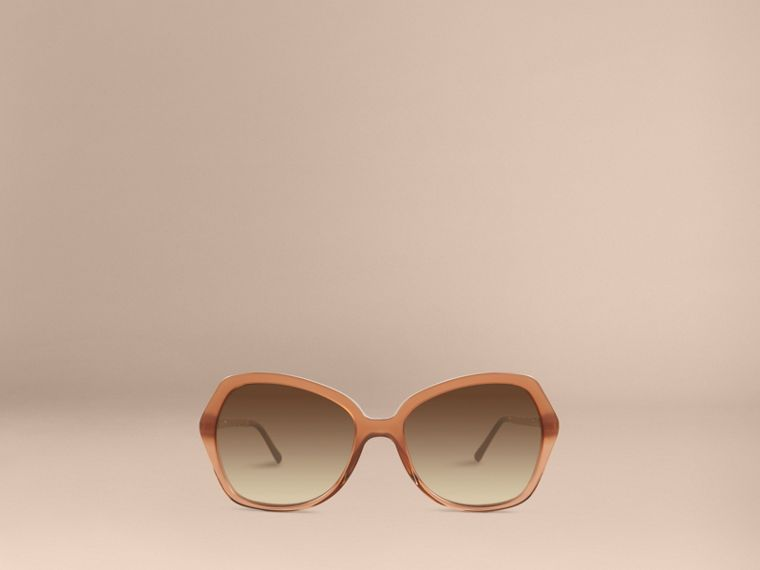 Smoked charcoal Gabardine Collection Oversize Square Frame Sunglasses Smoked Charcoal - cell image 1