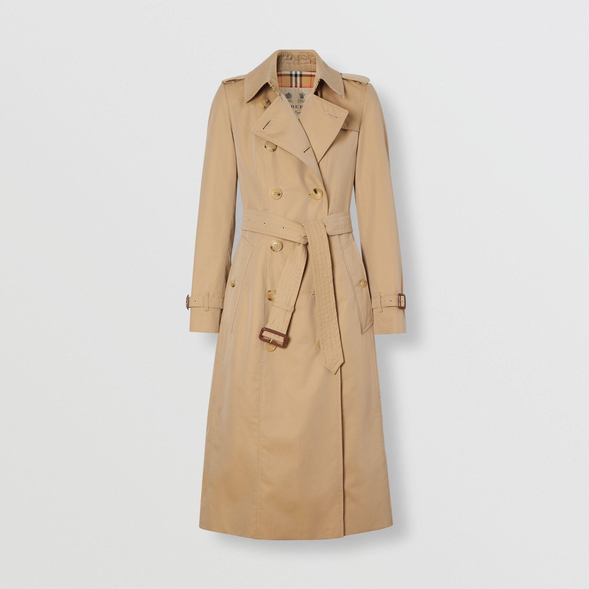The Long Chelsea Heritage Trench Coat in Honey - Women | Burberry - gallery image 8
