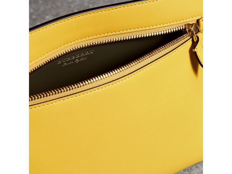 Leather Wristlet Clutch in Bright Larch Yellow - Women | Burberry United States - cell image 1
