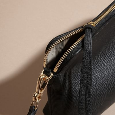 Grainy Leather Clutch Bag Black | Burberry