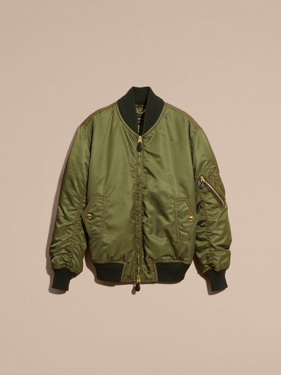 Light military green Oversize Bomber Jacket - cell image 3