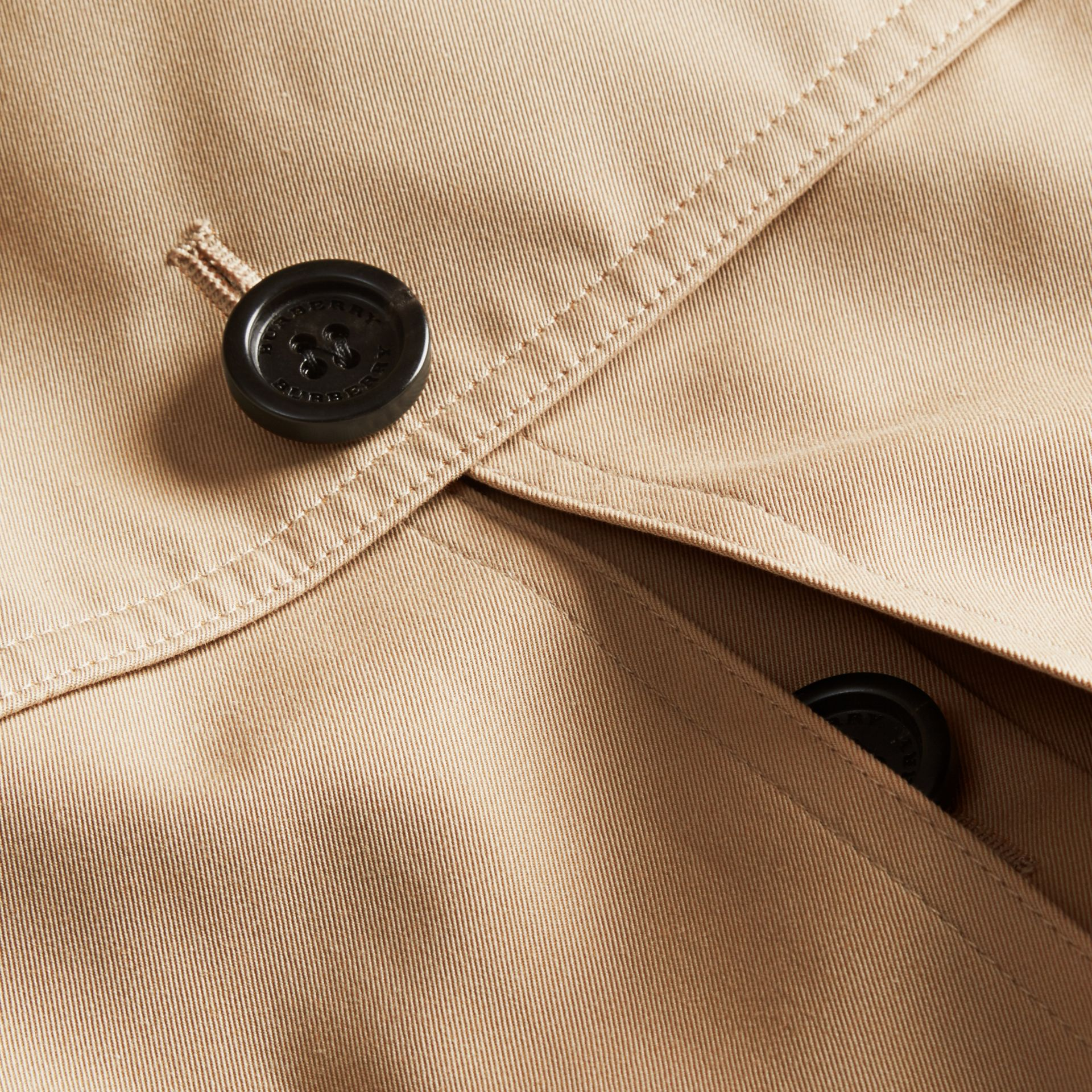 Honey Cotton Gabardine Trench Cape Honey - gallery image 2