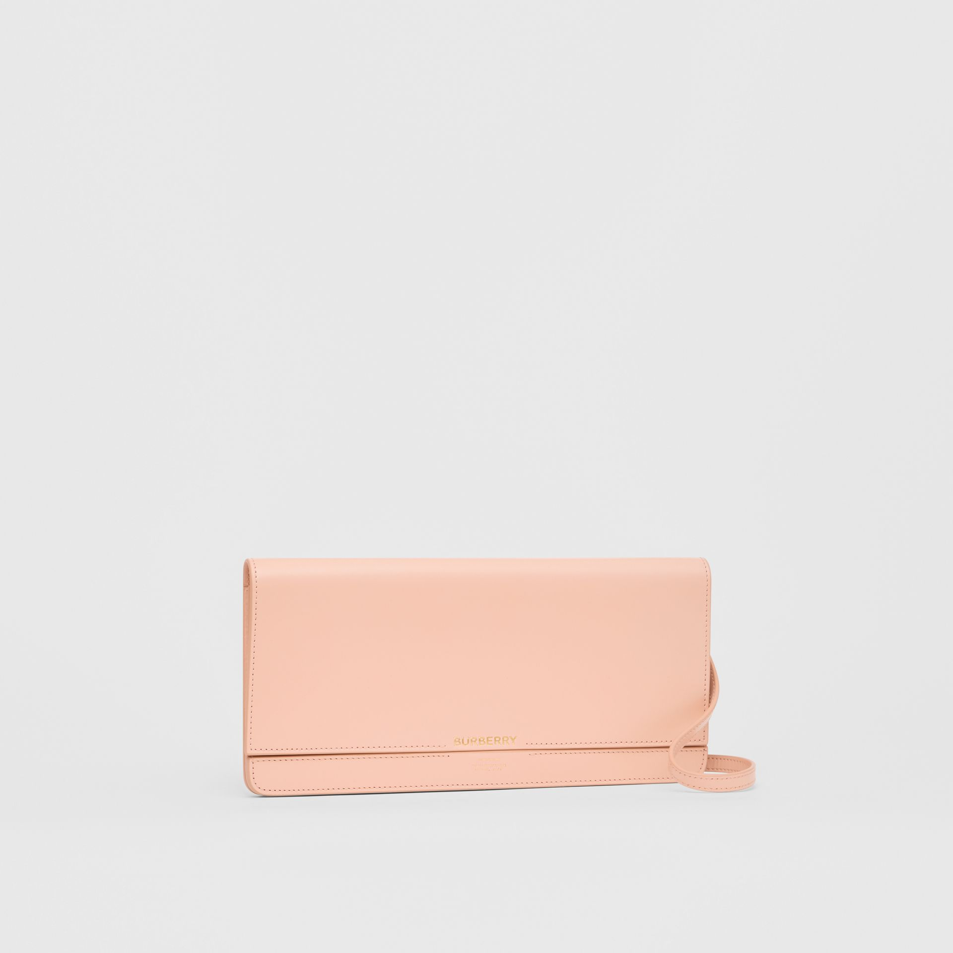 Horseferry Print Leather Bag with Detachable Strap in Blush Pink - Women | Burberry - gallery image 4