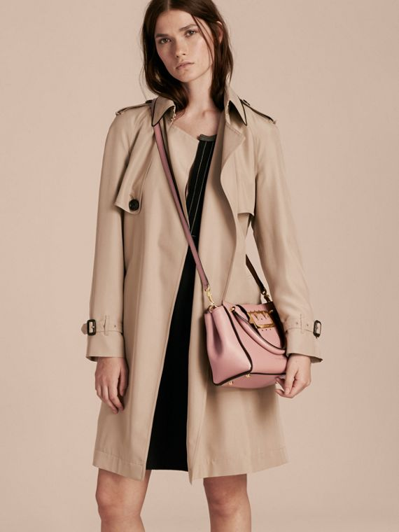 The Small Buckle Tote in Grainy Leather Dusty Pink - cell image 2