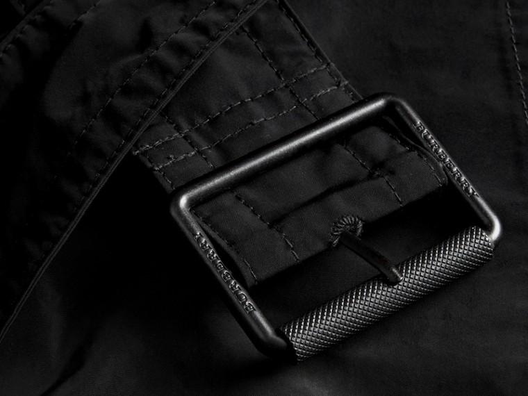 Noir Trench-coat en taffetas à capuche amovible Noir - cell image 1