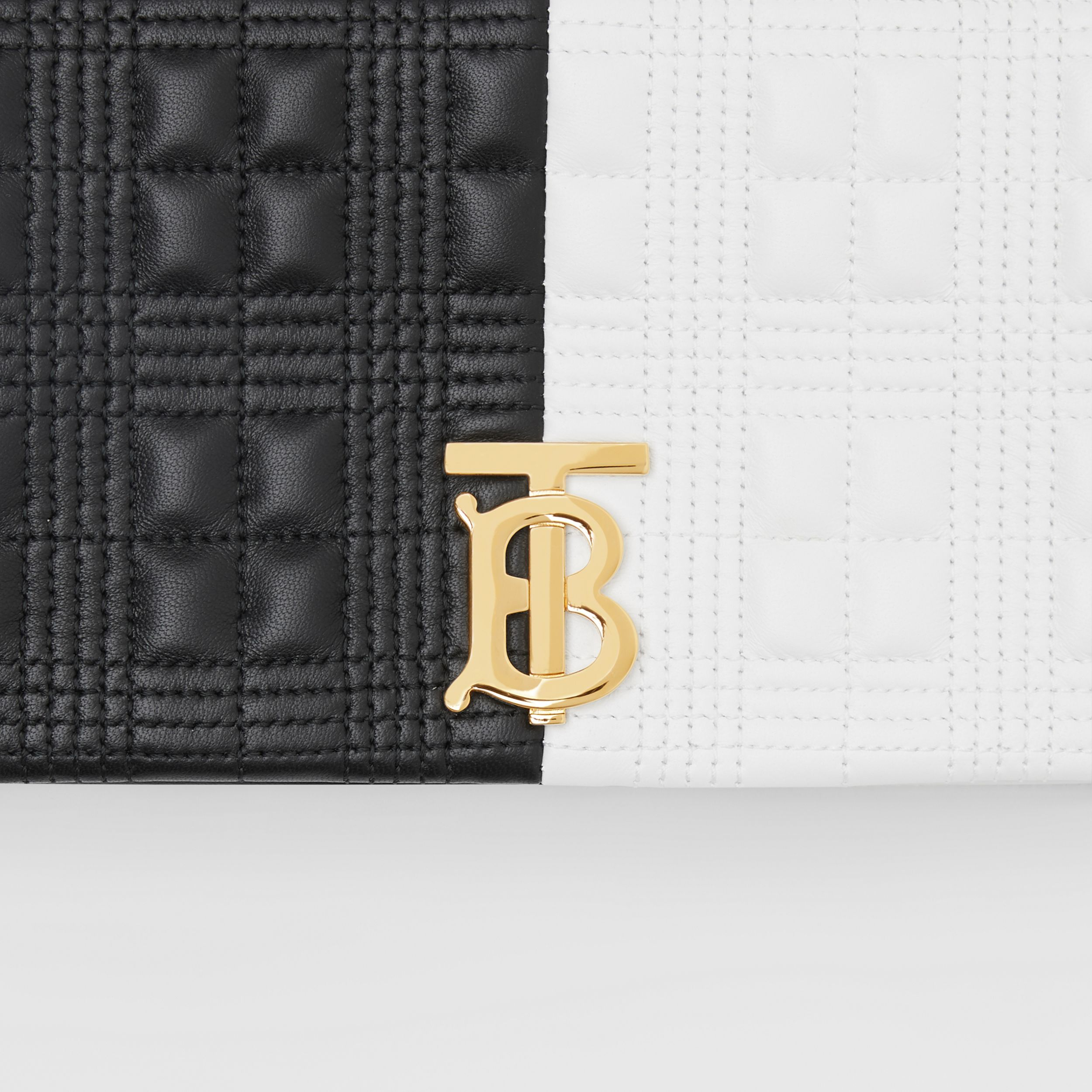 Small Quilted Two-tone Lambskin Lola Bag in White/black - Women | Burberry - 2