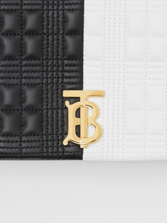 Small Quilted Two-tone Lambskin Lola Bag in White/black - Women | Burberry - cell image 1